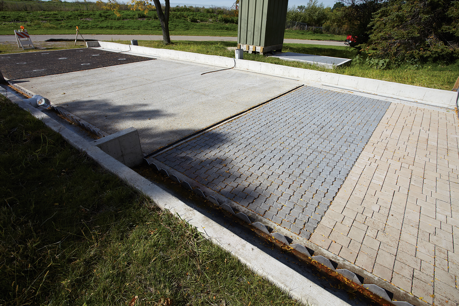 County Materials Continues To Support Permeable Paver Test