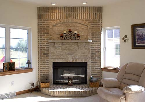 Westwind Drive Residence (fireplace)