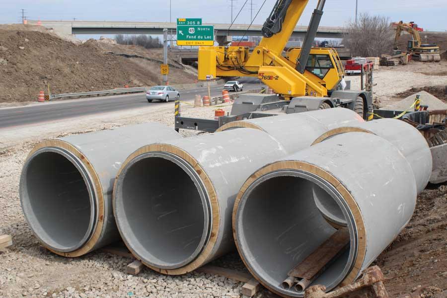Precast Concrete Pipes : Zoo interchange project