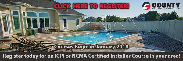 Register for ICPI or NCMA Certified Installer Course in your area.