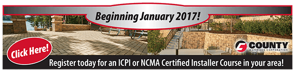 Register today for an ICPI or NCMA Certified Installer Course in your area!