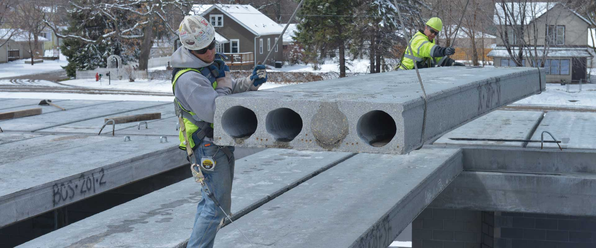 Hollowcore residential applications for Roof and floor