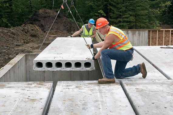 Residential Precast Concrete Slabs : Hollowcore residential applications