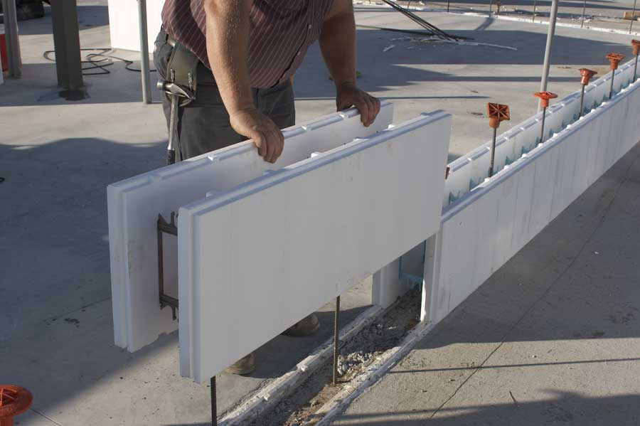 Icf commercial applications for Foam concrete forms