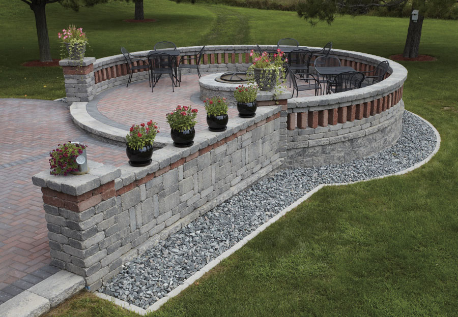 Summit stone landscape units for Landscaping stones