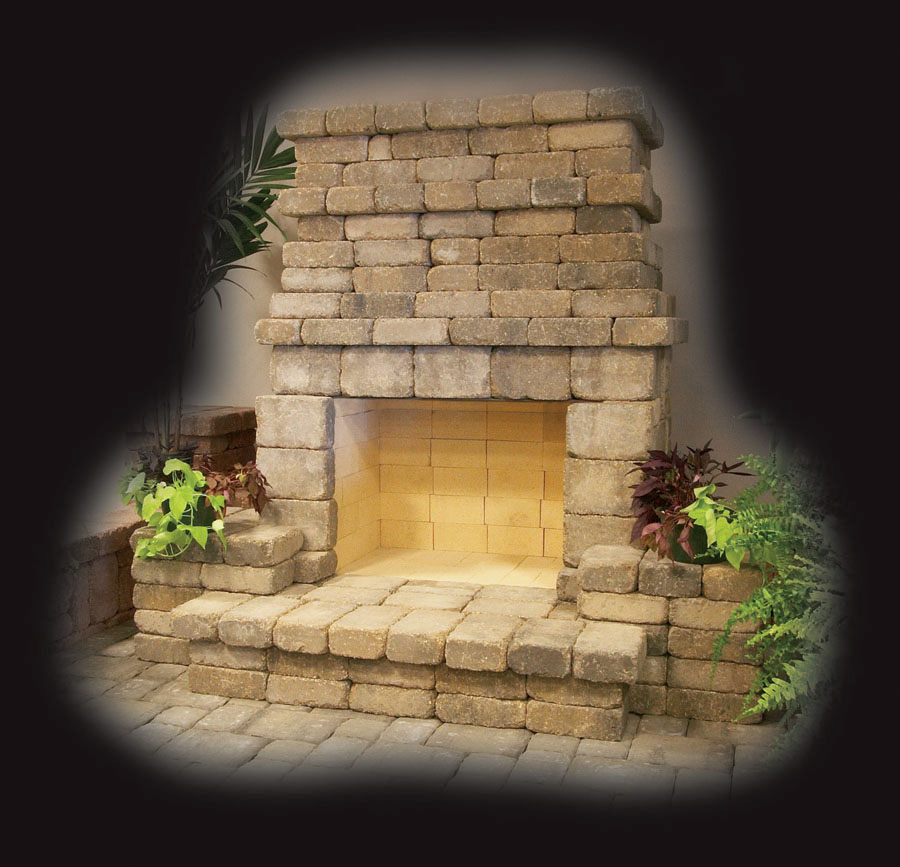 Building A Stone Wall Fireplace