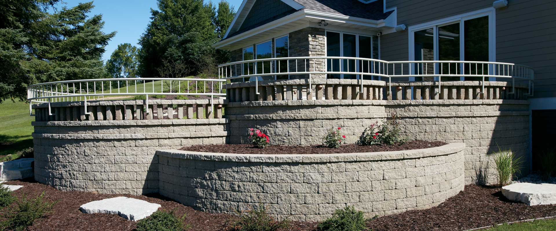 Retaining walls for Landscape blocks