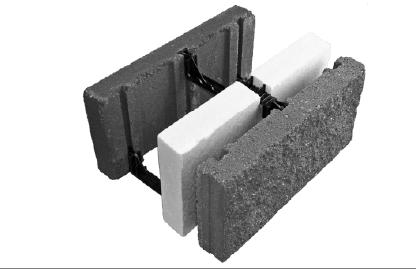 Onestep cfmu building system for Insulated concrete masonry units
