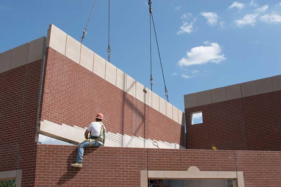 Precast Concrete Panel With Brick : Tilt up precast concrete thin veneers