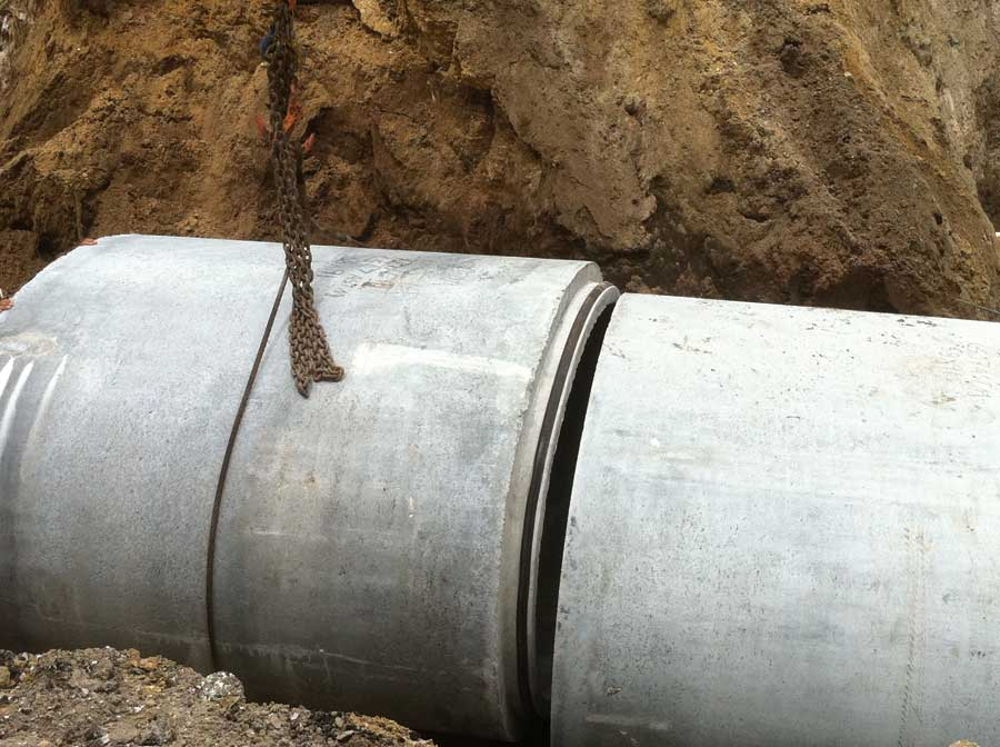 Precast Concrete Collar : Elliptical reinforced concrete pipe
