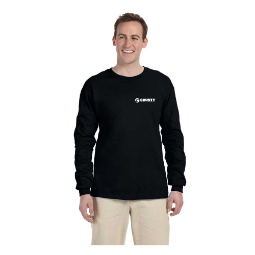 Gildan Ultra Adult Long Sleeve T Shirt With Left Chest Logo