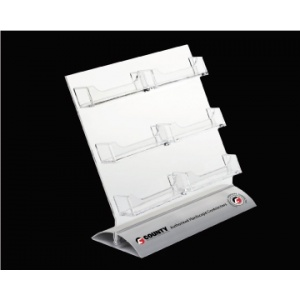 6 pocket business card holder with snap on base stsbcc6 ahc_business_card_holders_counter - Pocket Business Card Holder