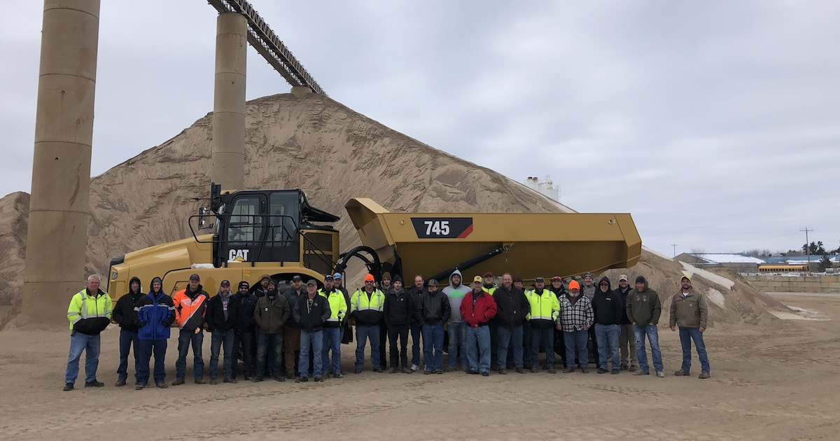 Aggregate Team Members Participate in Equipment and Safety Training