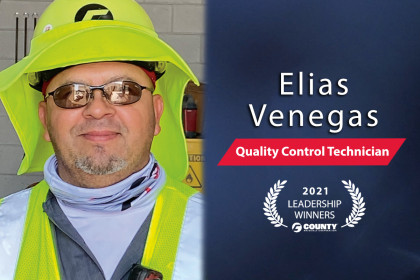 County Materials Congratulates Elias Venegas – 2021 First Quarter Leadership Award Winner