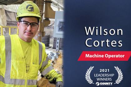 County Materials Congratulates Wilson Cortes –  2021 Second Quarter Leadership Award Winner