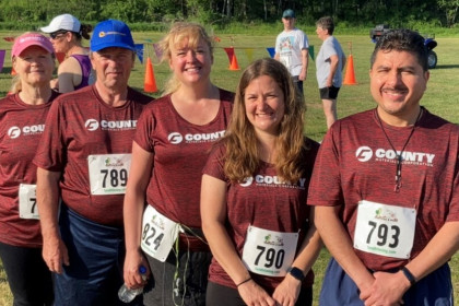 County Materials Sponsors Team for Run Like No Udder Dairy 5K Event