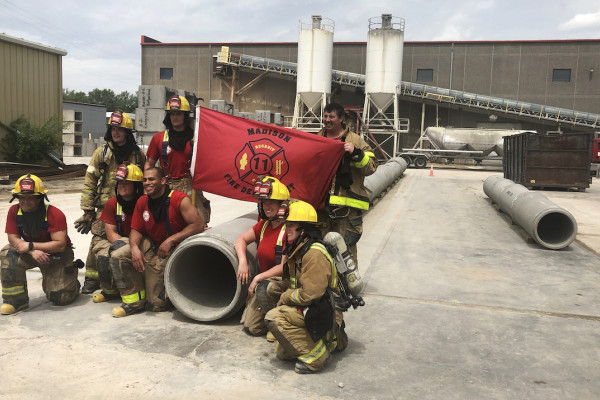 County Materials Supplies Reinforced Concrete Pipe to Madison Fire Department for Training