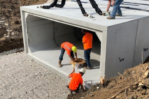 Box Culvert Installation Aides in Purdue University Aerospace District Expansion