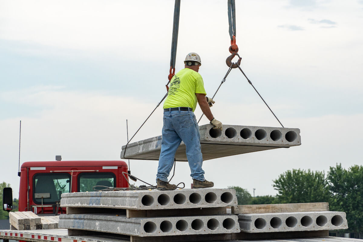 County Materials Supplies Hollowcore Plank for Kwik Trip Regional Expansion Projects