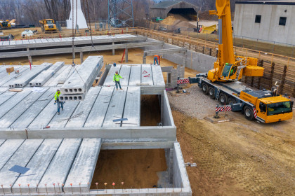 County Materials' Ready-to-Install Hollowcore Plank Maximizes Efficiency