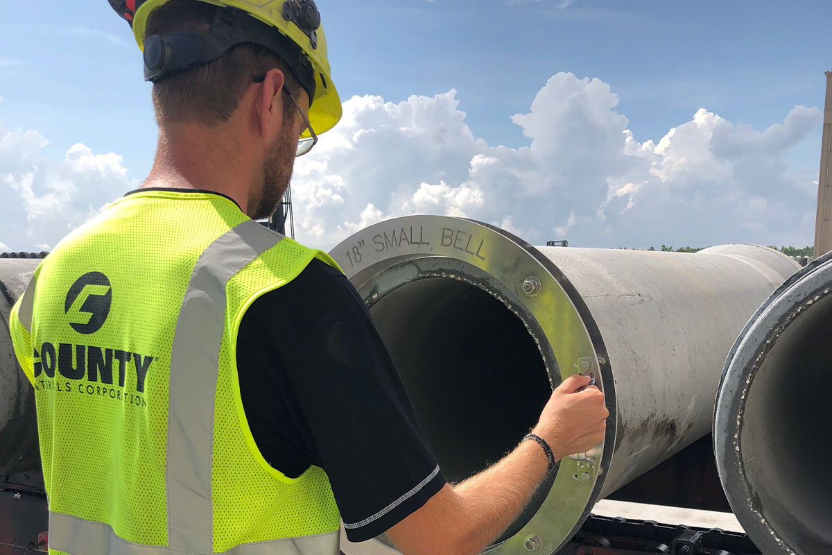 County Materials Wins in Three Categories at the 2019 American Concrete Pipe Association Chairman's Quality Awards
