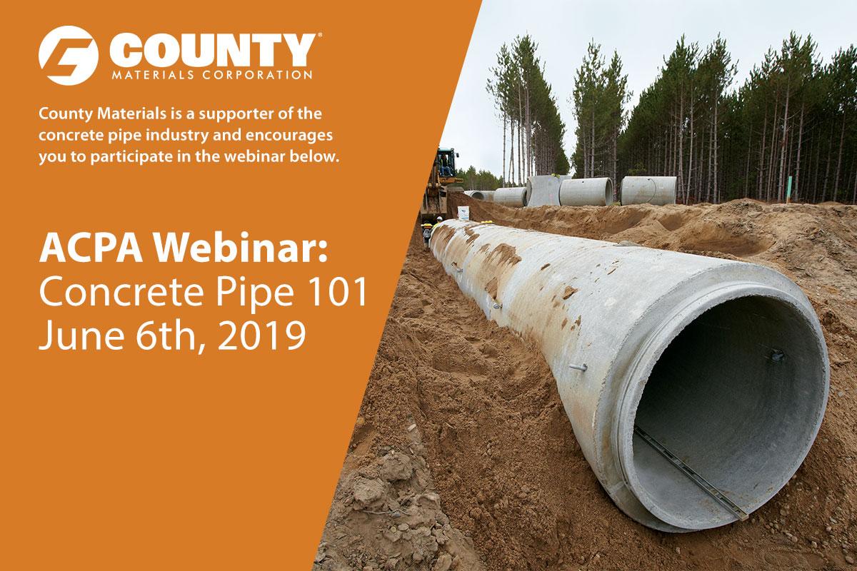 Free Webinar: Concrete Pipe 101