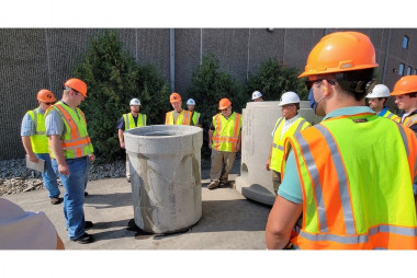 Concrete Pipe and Precast Plant Tour and Scholarship Event at County Materials' Roberts, WI Facility