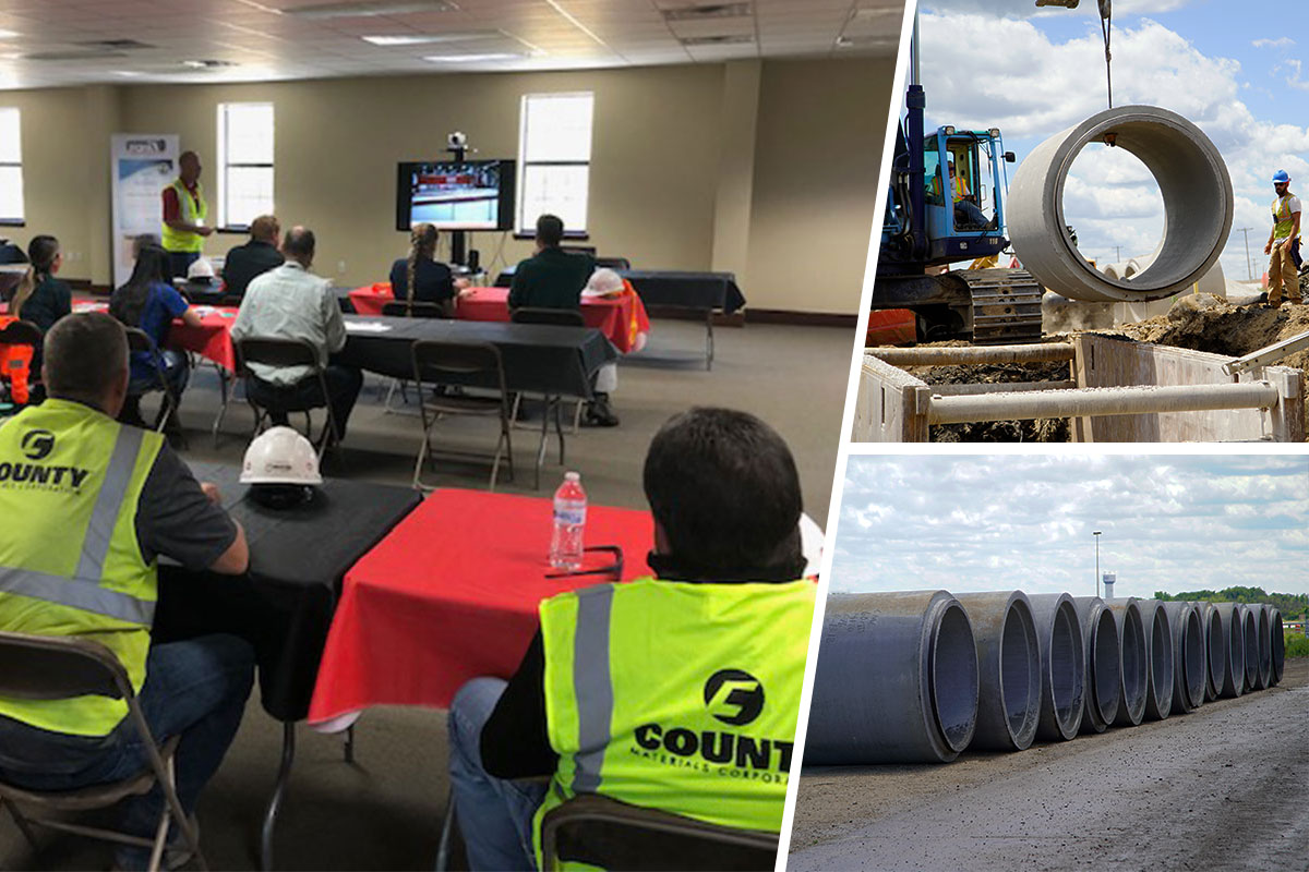 County Materials Educates Southwest Florida Water Management Engineers on Advantages of Concrete Pipe