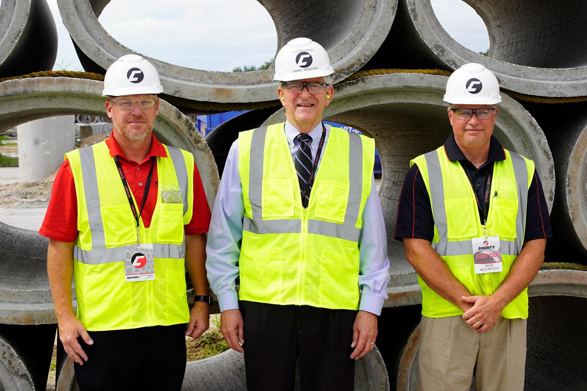 Concrete Pipe Week: US Congressmen Daniel Webster Tours County Materials' Astatula, FL Facility