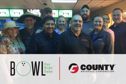County Materials Sponsors Teams for Big Brothers Big Sisters Bowl for Kids' Sake Fundraiser