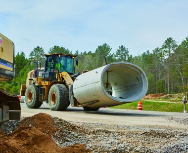 Locally Produced Reinforced Concrete Pipe Keeps Vital Corridor Construction on Track