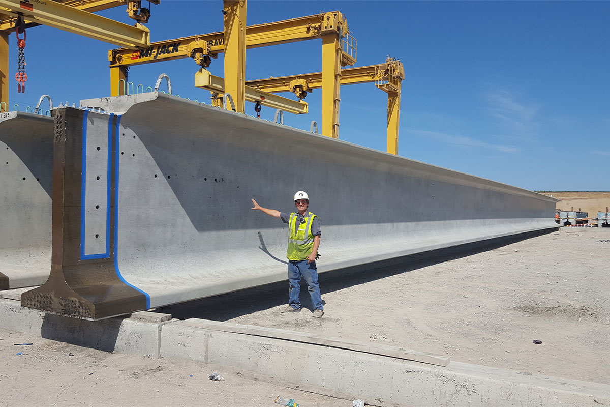 County Materials Produces Largest Bridge Girders to Date