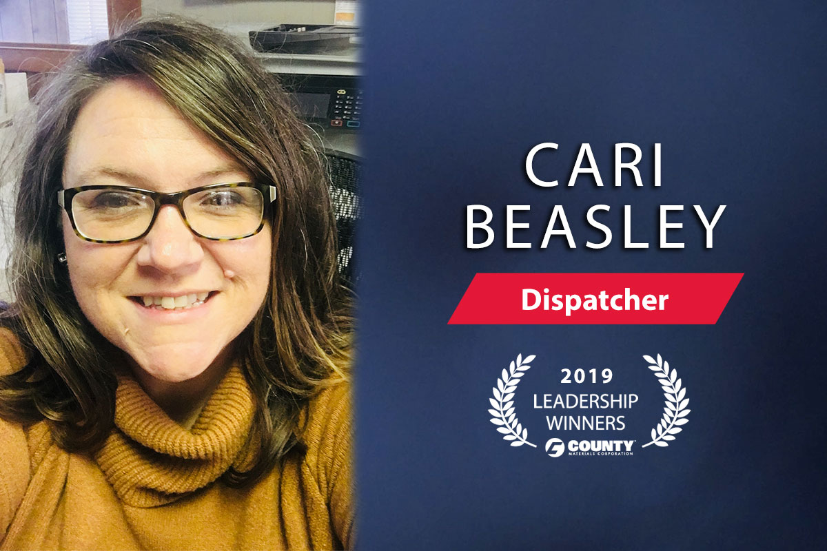 County Materials Congratulates Cari Beasley—2019 Third Quarter Leadership Winner