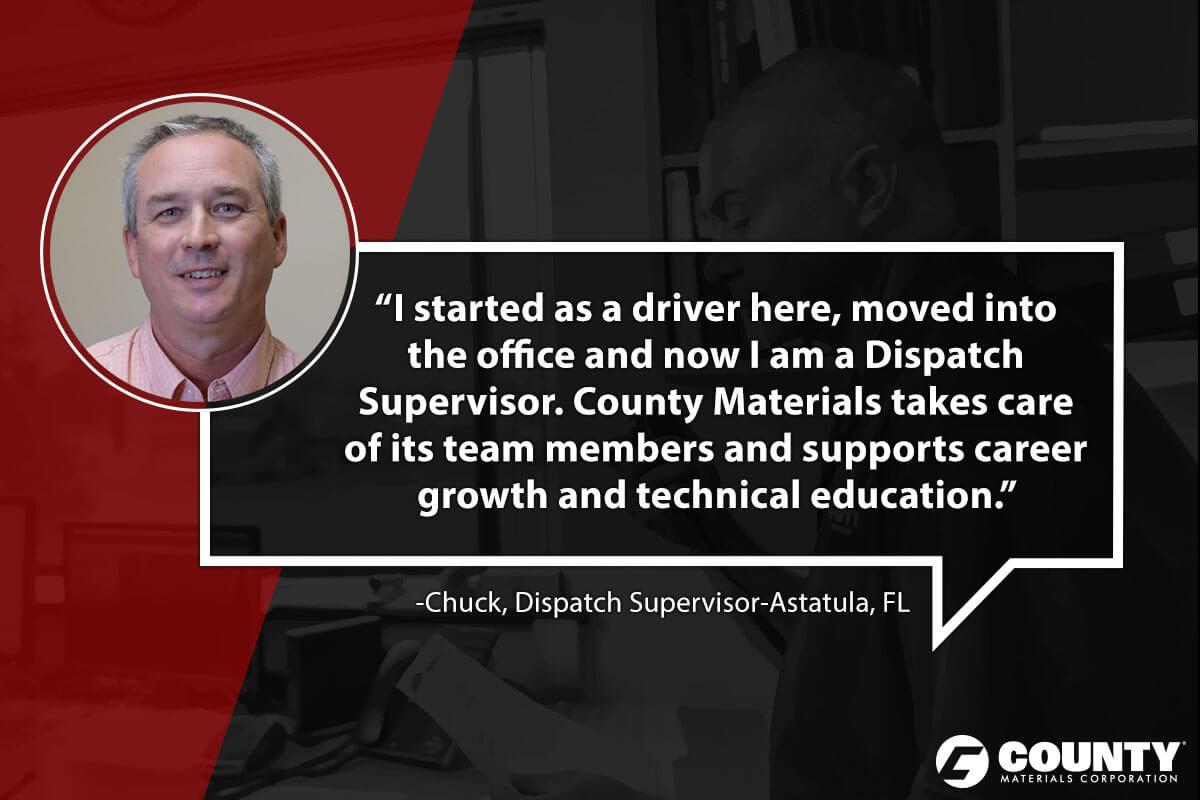 Chuck, Dispatch Supervisor-Astatula, FL