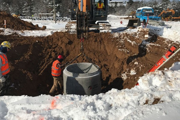 Donation of Pipe and Precast Structures Provides Real-world Training for Wisconsin Engineers