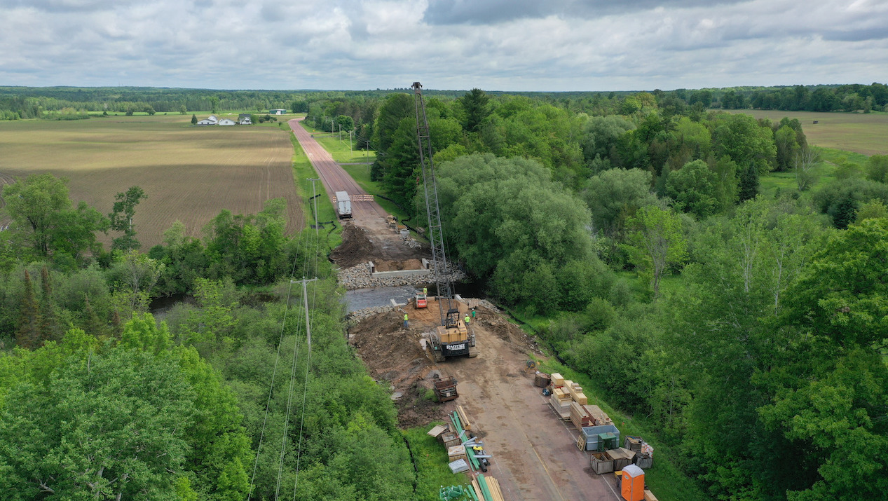County Materials Delivers Prestressed Bridge Girders Across the State for Same-Day Installation