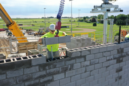 """Manufactured for Ease and Speed of Installation:  County Materials' Oversized 32"""" Concrete Masonry Units"""