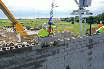 Advantages of County Materials 32 Inch Concrete Masonry Units - DeForest High School Project Feature