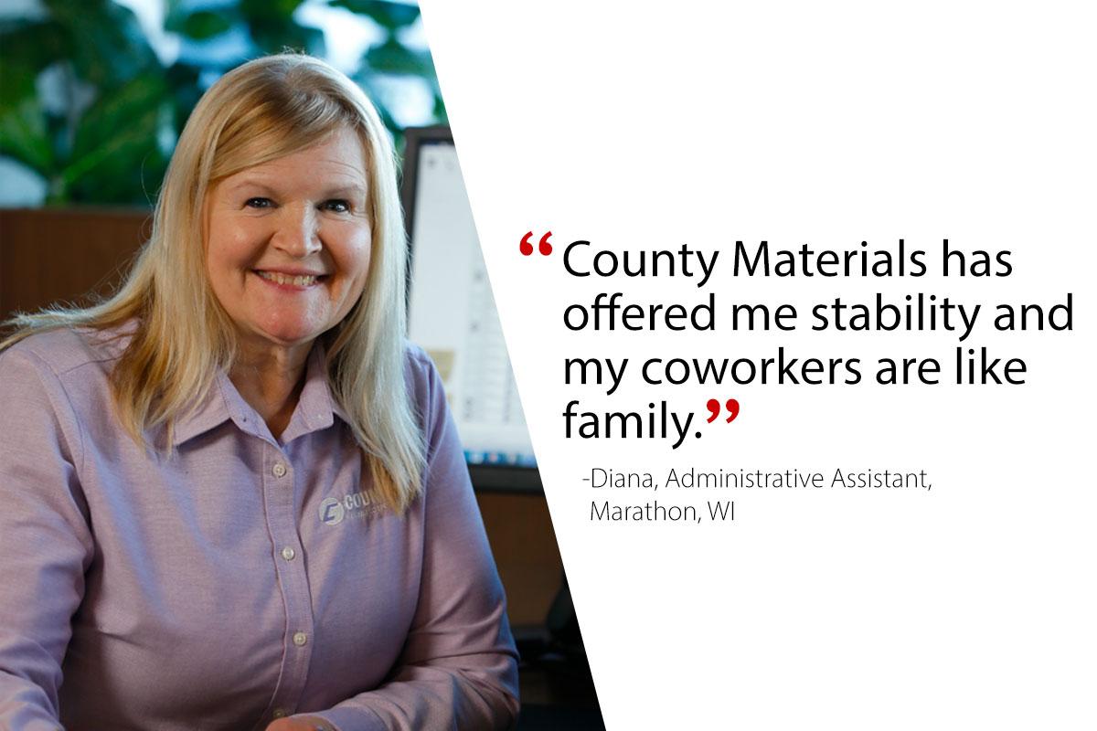 Diana, Administrative Assistant-Marathon, WI