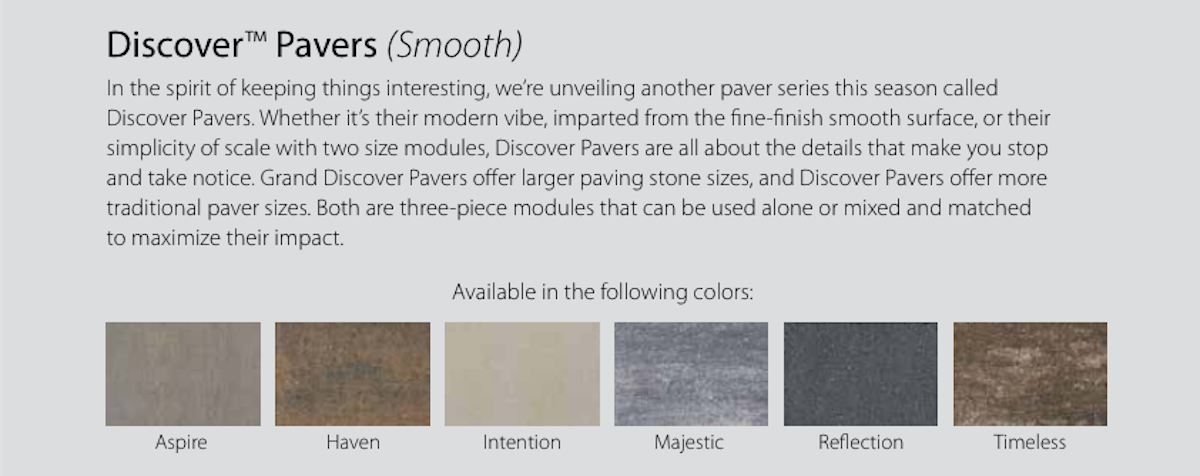 Introducing Discover & Grand Discover Pavers