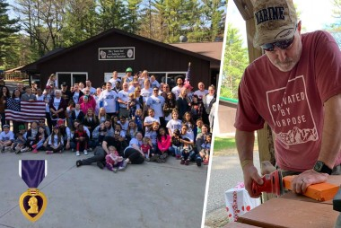 Recognizing Purple Heart Day: Easter Seals Wisconsin Veterans Camps Receives Support from County Materials