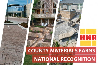 County Materials Earns National Recognition at Hardscape North America as a Manufacturer in Three Award-Winning Hardscape Projects