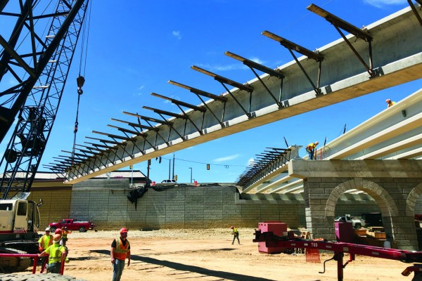 County Materials Fulfills Delivery of 22 Prestressed Girders in a Single Day