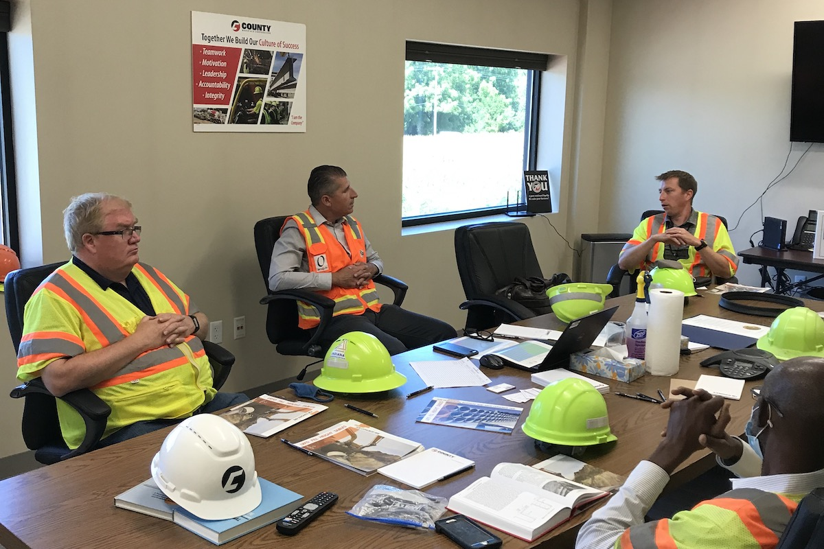 County Materials Hosts Plant Tour with IKO Pipe Association and INDOT