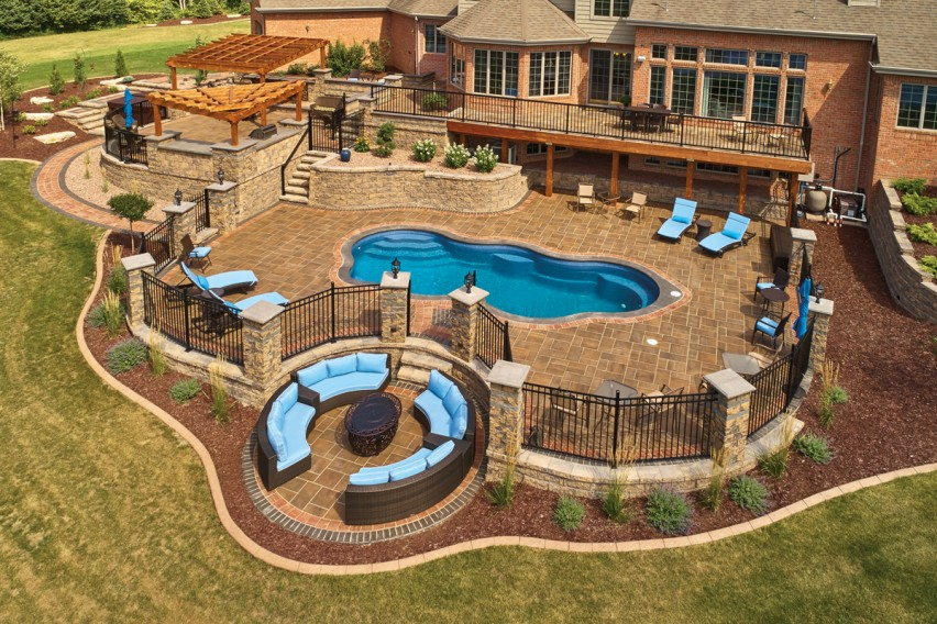 Ambitious Landscaping Project Built with Variety of County Materials Hardscape Products