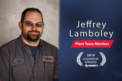 County Materials Congratulates Jeff Lamboley—2019 Fourth Quarter Leadership Winner