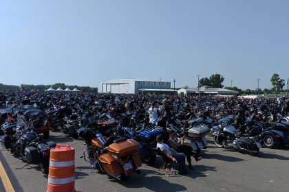 County Materials Team Member Participates in World Record Motorcycle Ride, Raising Funds for Veteran Organization