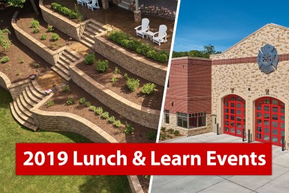 2019 Lunch & Learn Events for Masonry and Landscape Professionals
