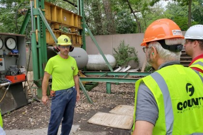 Concrete Pipe Week: Wisconsin Senator Mark Miller Tours County Materials' Madison, WI Concrete Pipe Production Facility