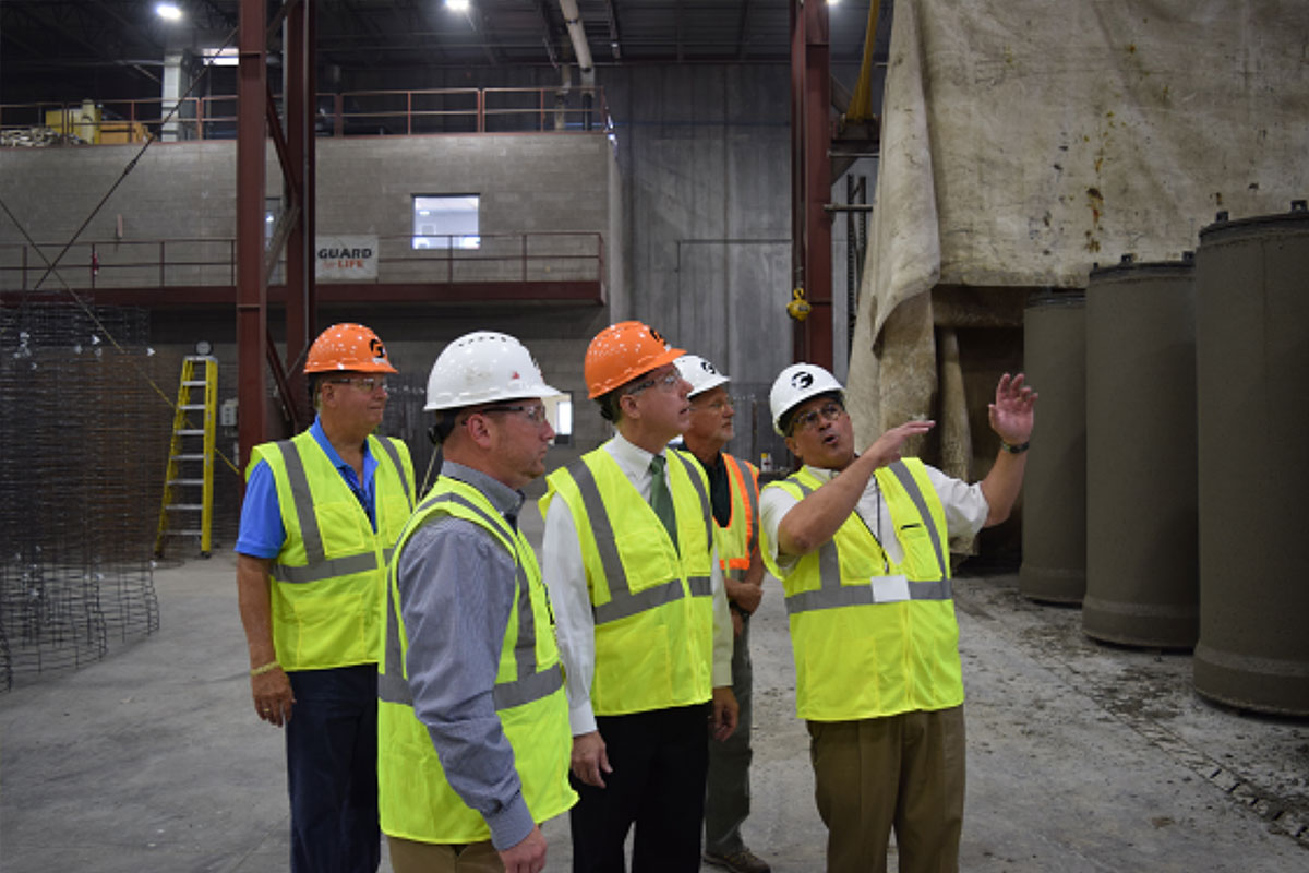 Concrete Pipe Week: Wisconsin State Assembly Speaker Robin Vos Visits County Materials' Madison, WI Concrete Pipe Manufacturing Facility